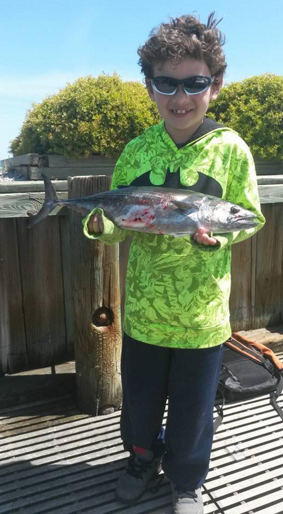 Bonita Fishing With The Kids On Wrightsville Beach